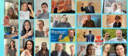 World Bank representatives wearing the virtual Menstruation Bracelet (image provided by WASH United)
